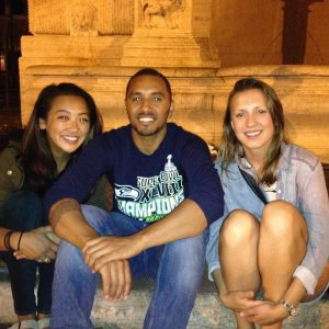 Samantha, Sergio and I in Roma