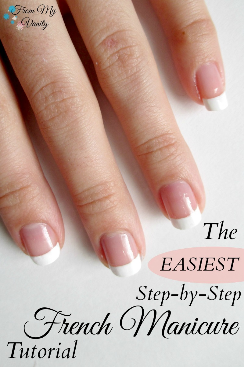 This is such an easy 'DIY' French Manicure Tutorial -- I can totally do this! | FromMyVanity.com
