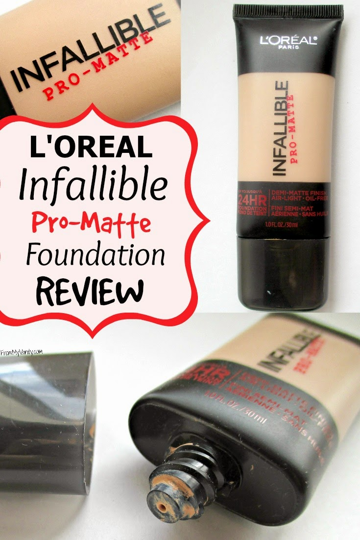 Loreal Infallibles New Pro Matte Line Has A Solid Foundation Infallible 24hr Makeup Review From My Vanity