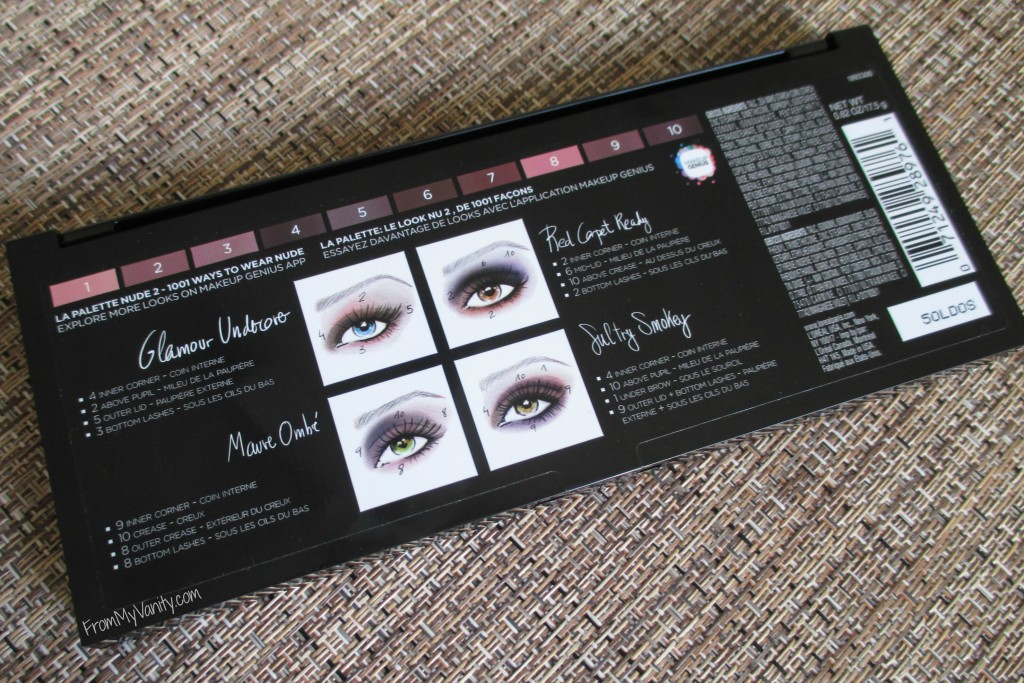 loreal-la-palette-nude-two-review-makeup-looks