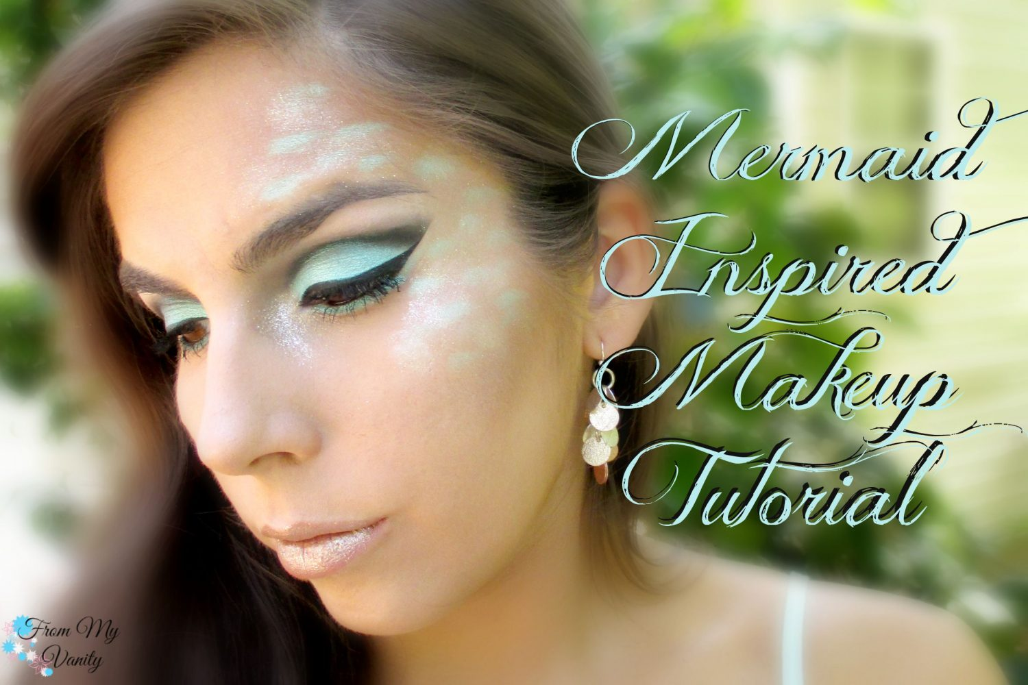 Mermaid-Inspired Makeup Tutorial // www.FromMyVanity.com #ladykaty92