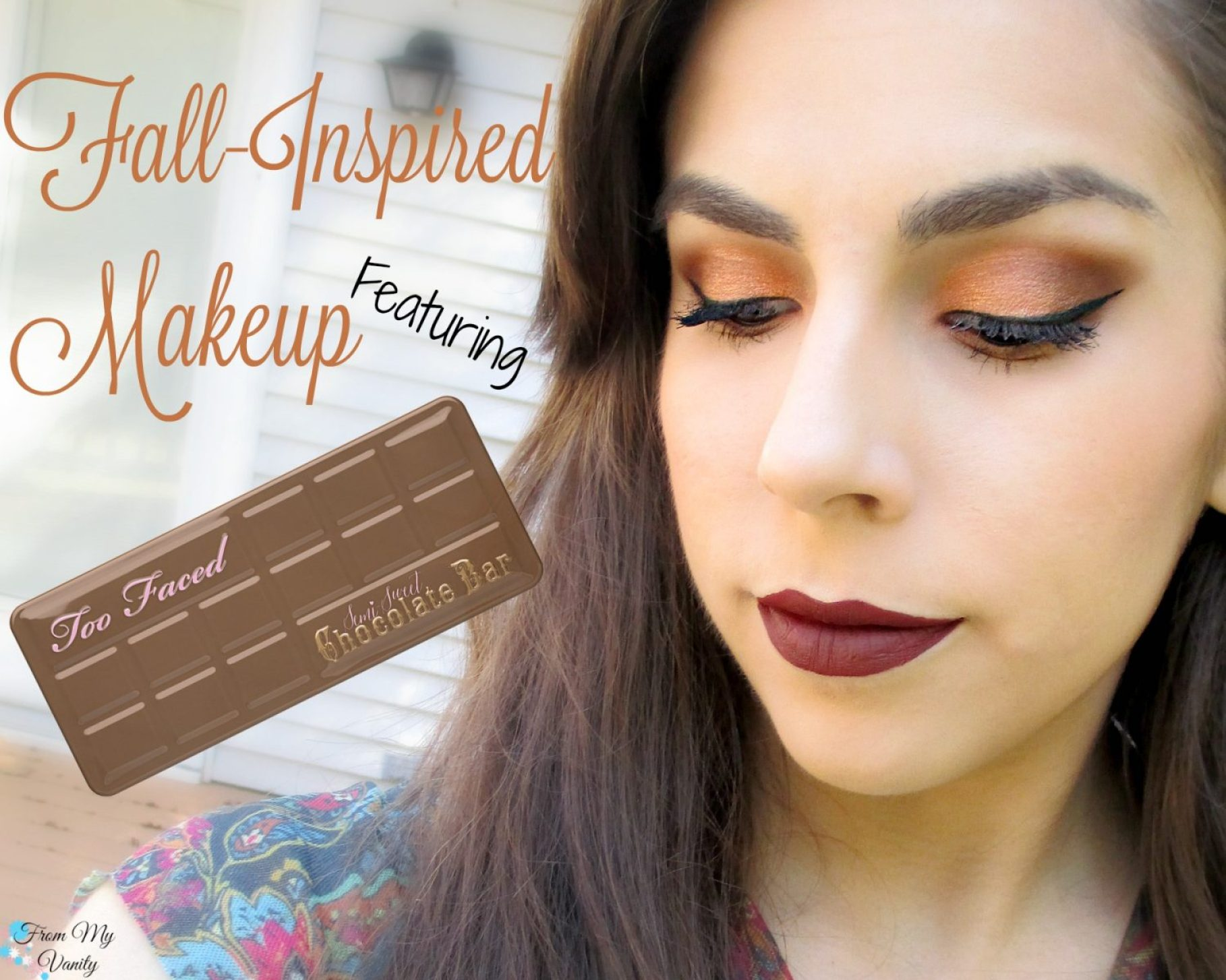 Fall-Inspired Face of the Day // featuring Too Faced Semi-Sweet Chocolate Bar Palette // #bbcchallenge #fotd #toofaced FromMyVanity.com