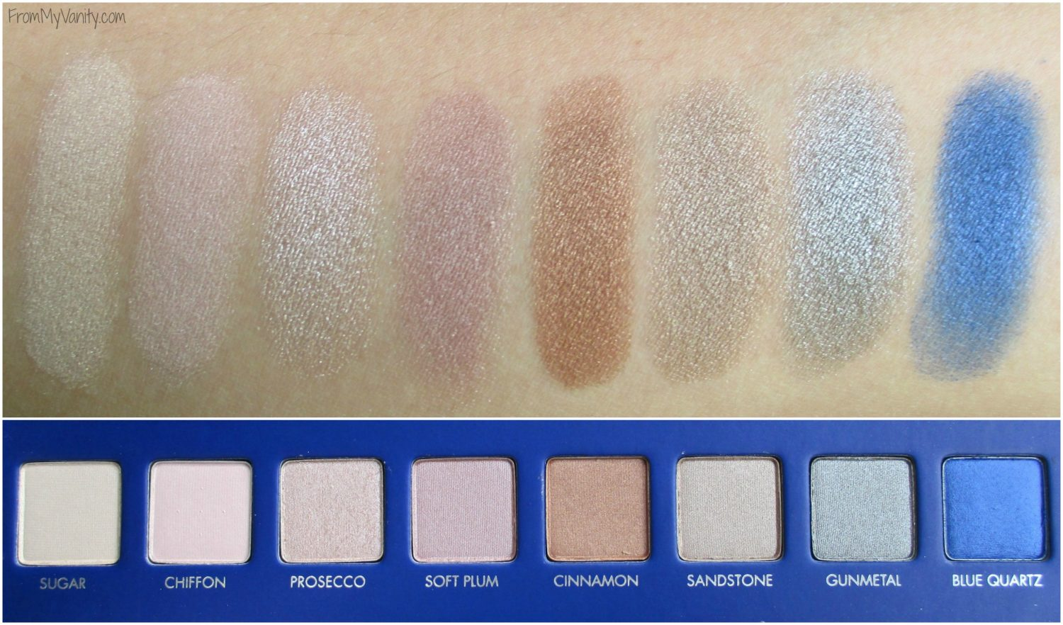 LORAC Mega Pro 2 Eyeshadow Palette // Review, Swatches, & Eye Looks // Swatches of Third Row // #LORACCosmetics #MegaPro2 FromMyVanity.com