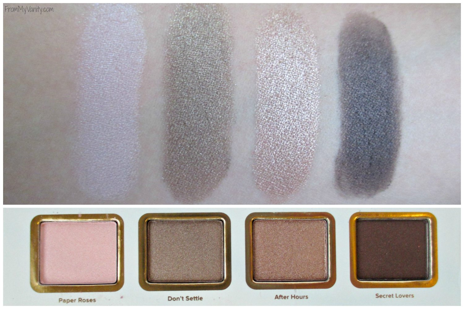 Too Faced La Petite Maison // Holiday Set // Review & Swatches // Swatches of Second Row // #UltaBeauty #TooFaced FromMyVanity.com