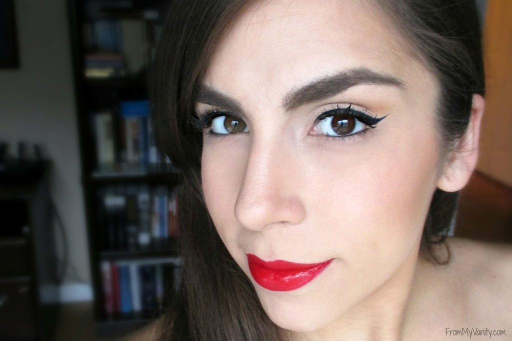 One Brand Tutorial & Review // The EDGE Beauty // Winged liner & Red lips // #fotd #faceoftheday #redlips #wingedliner FromMyVanity.com