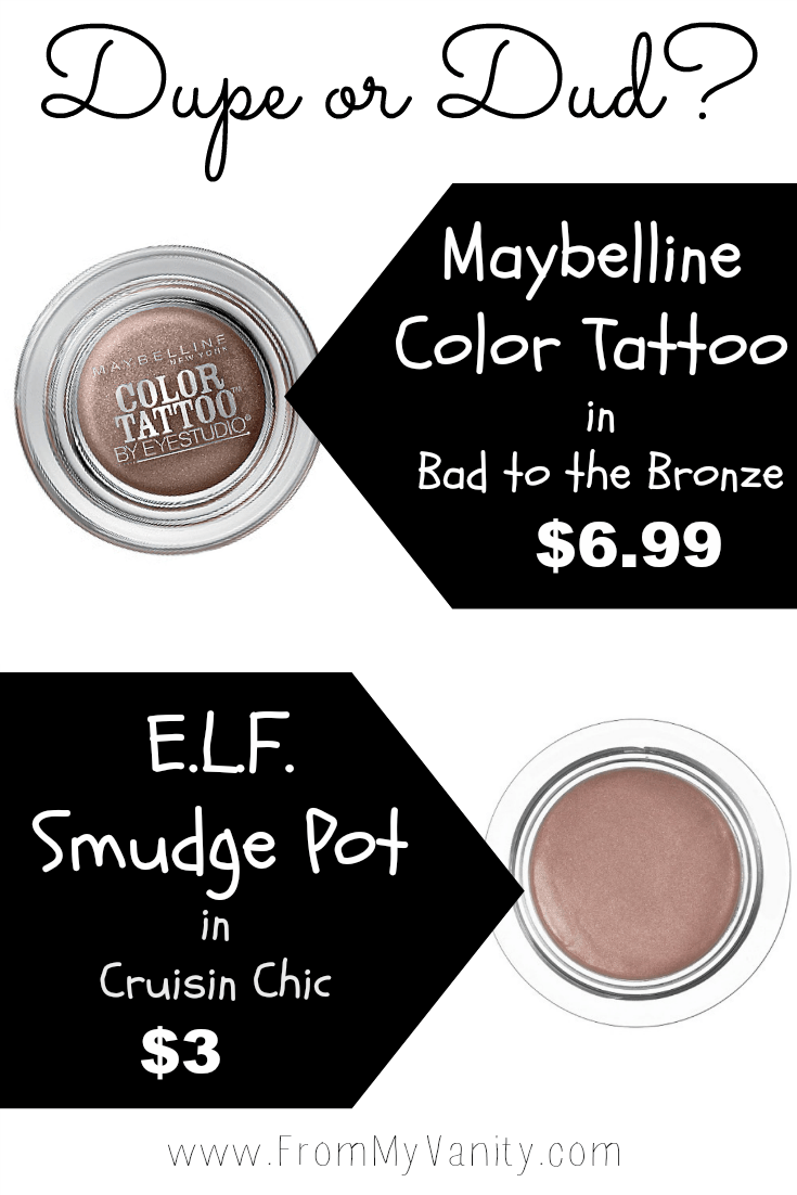 Dupe or dud maybelline color tattoo vs elf smudge pot from my vanity curious to see if elfs smudge pot is a dupe for a cult baditri Image collections