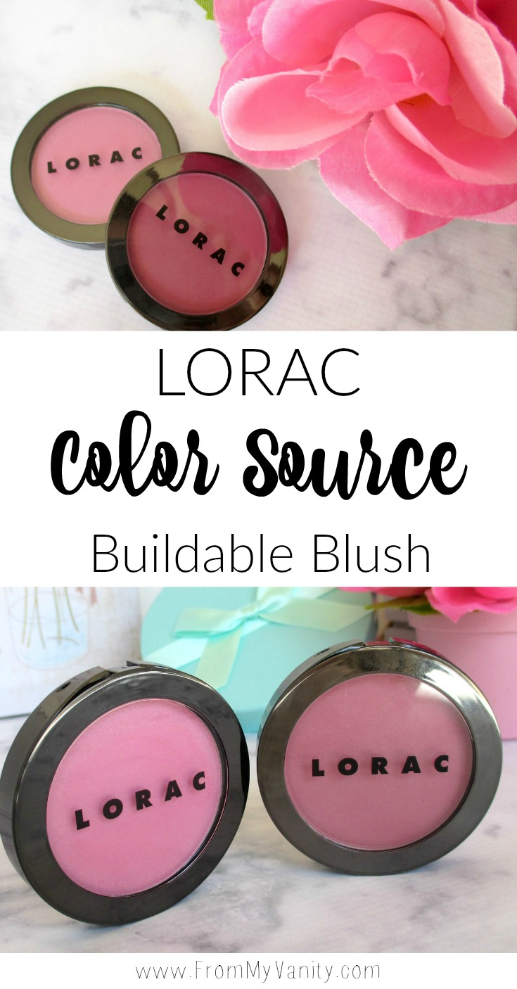 LORAC has come out with new blushes this year -- the Color Source Buildable Blushes. If you've been reading my blog for any length of time, you'll know I love LORAC Cosmetics products, but I've actually never tried their blushes before. Not to give anything away, but I've been really impressed.