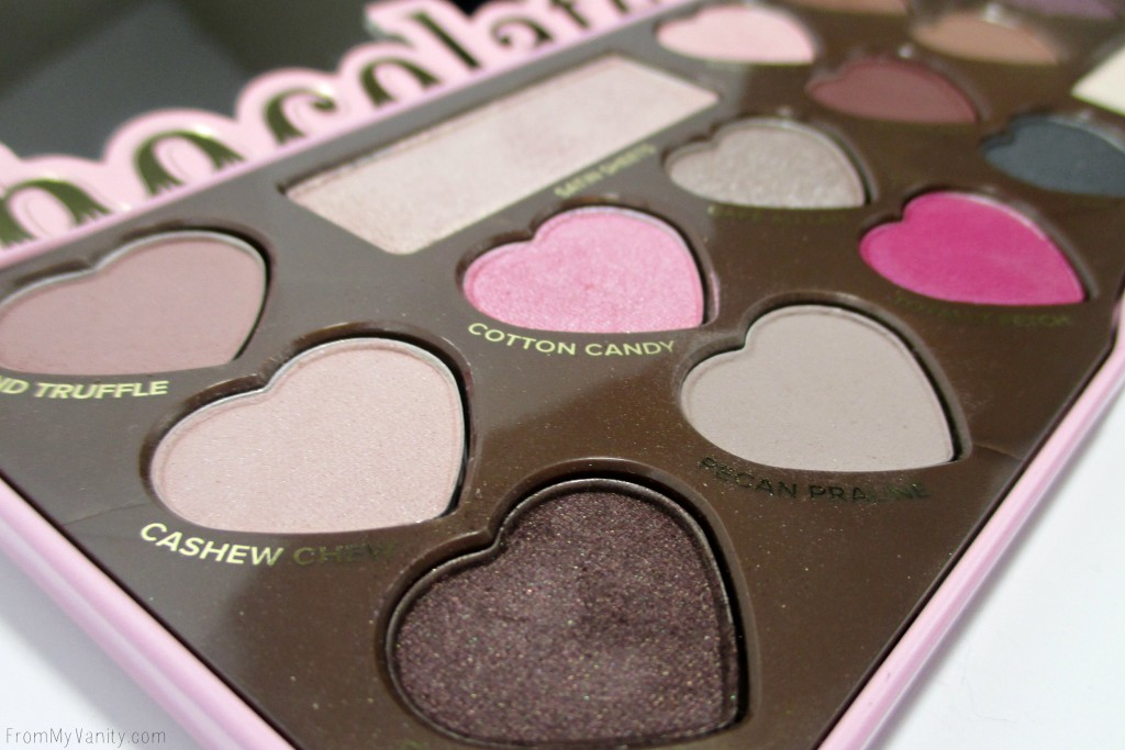 Too Faced Chocolate Bon Bons Palette // Review, Swatches, & Eye Looks // Palette Close Up // FromMyVanity.com