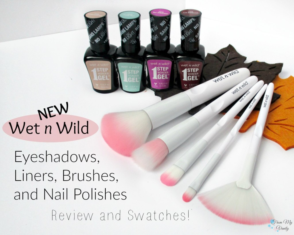 Wet N Wild 2016 Products // Brushes, Gel Polishes, Liquid Liners, & Limited Edition Eyeshadow Trio // FromMyVanity.com