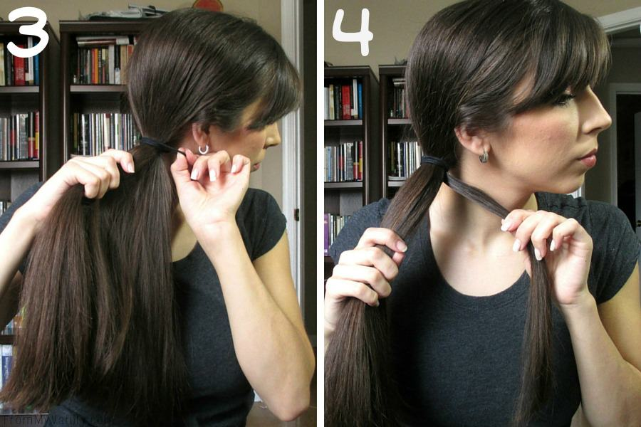 Quick Hairstyles for Busy Moms // Goody Brushes // Ponytail Steps 3 & 4 // FromMyVanity.com #goody #hairstyles