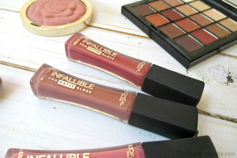 These L'Oreal Matte Glosses are EVERYTHING! :-D