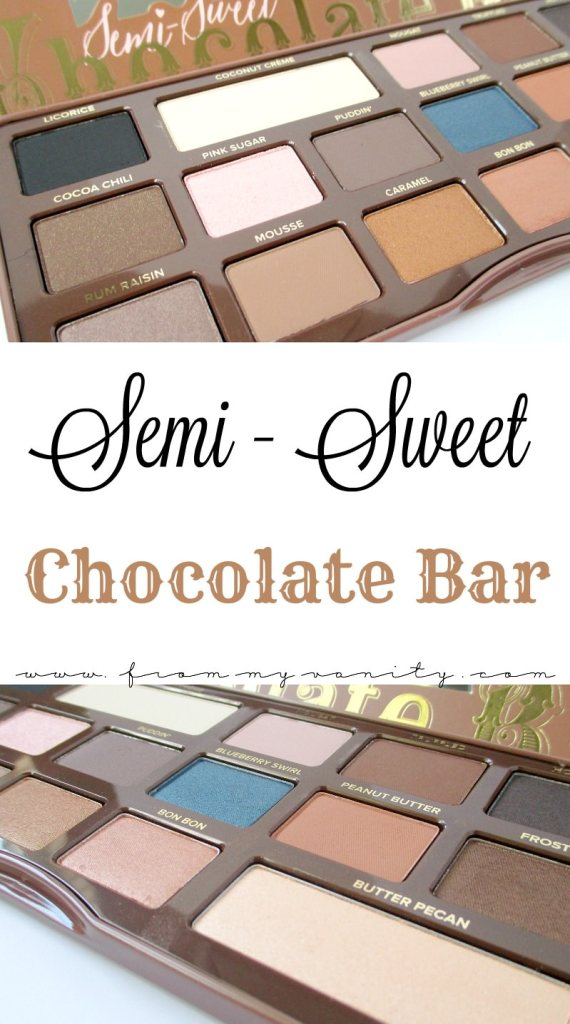 The Too Faced Semi-Sweet Chocolate Bar palette is gorgeous and the ideal palette to use in the fall!