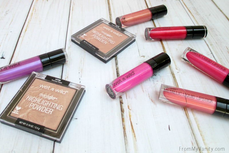 Wet n Wild Summer 2016 collection of liquid lipsticks and highlighters!