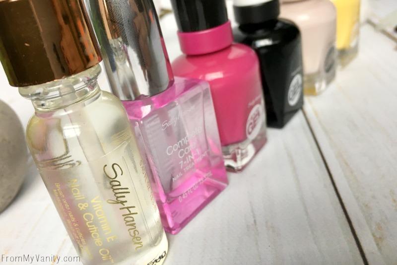 Sally Hansen nail polish bottles