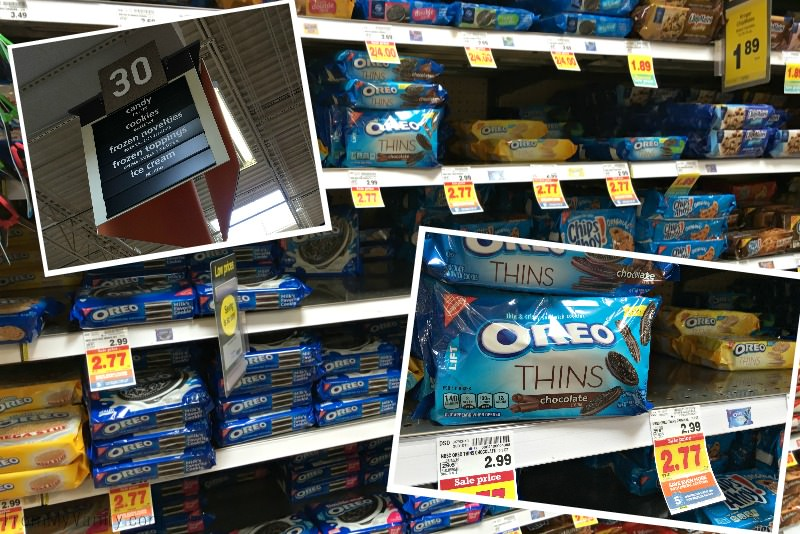 Shopping in Kroger for OREO Thins