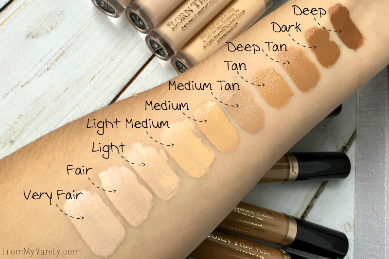 Swatches of the NEW Too Faced Born This Way Concealers