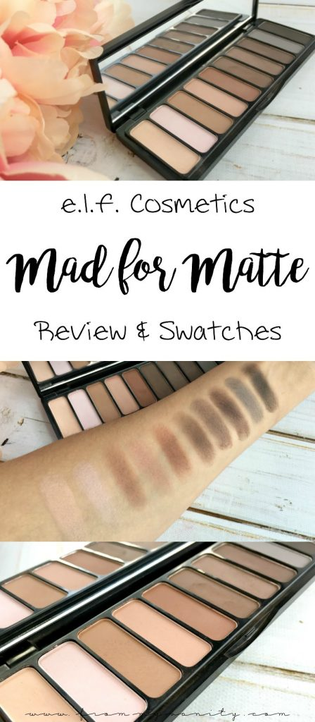 If you keep passing over this palette...I think this review might just change your mind! | E.L.F. Cosmetics' Mad for Matte eyeshadow palette