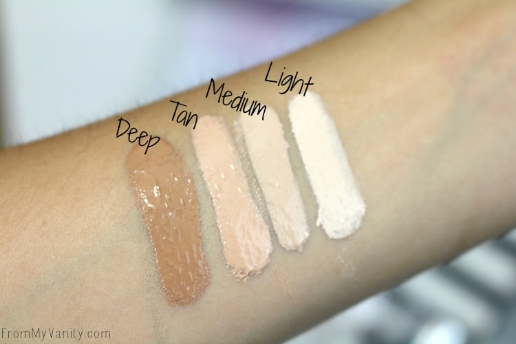 Swatches of the Bye Bye Under Eye Illumination Concealer