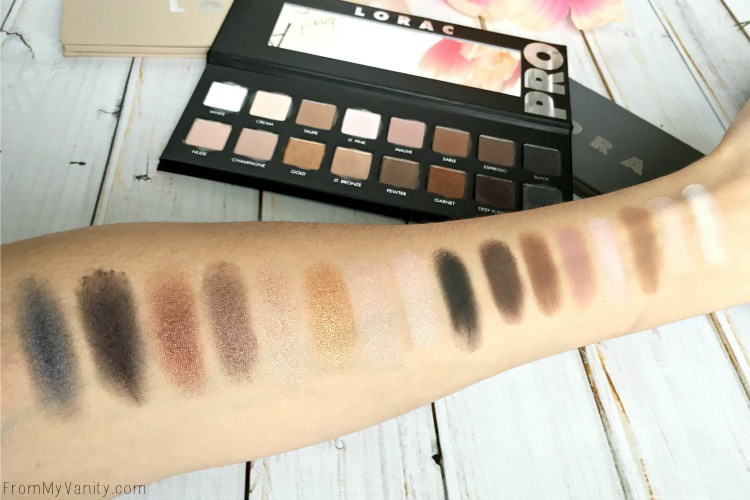 lorac-pro-comparisons-pro-swatches