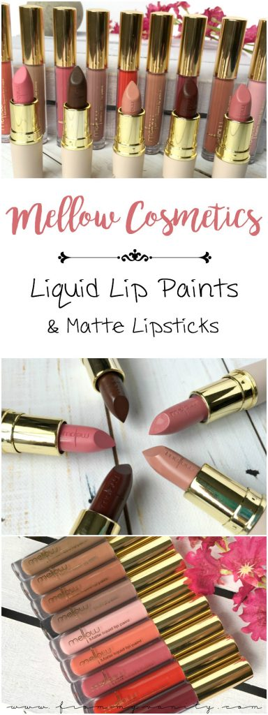 These Mellow Cosmetics Creamy Matte lipsticks and Liquid Lip Paints are worth looking into!