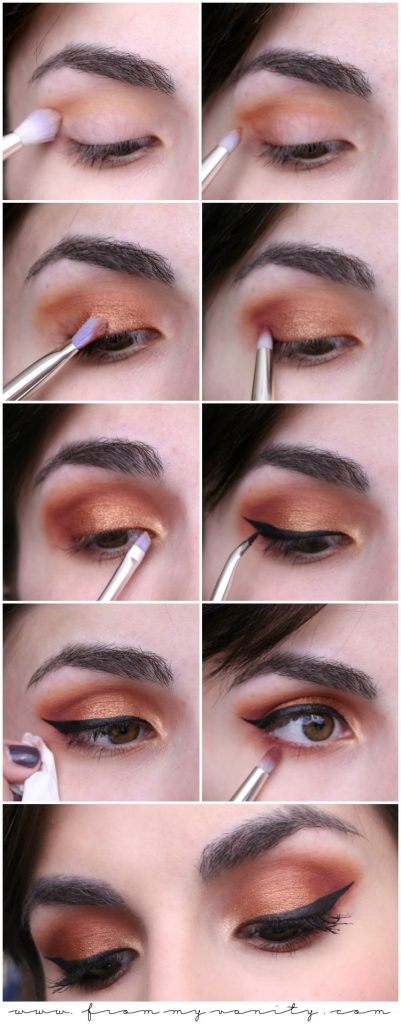 Fall Inspired Copper Eyes -- Quick and Easy Tutorial using Bdellium Tools and Makeup Geek