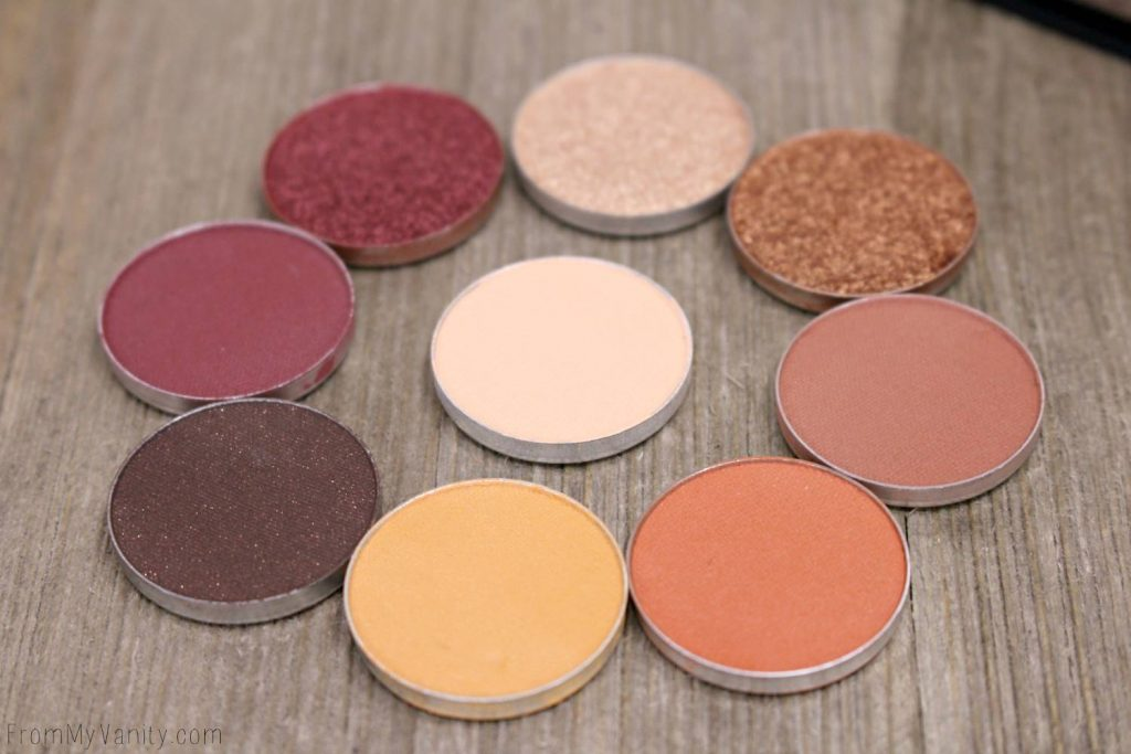 Makeup Geek Eyeshadows -- matte, foiled, and shimmer