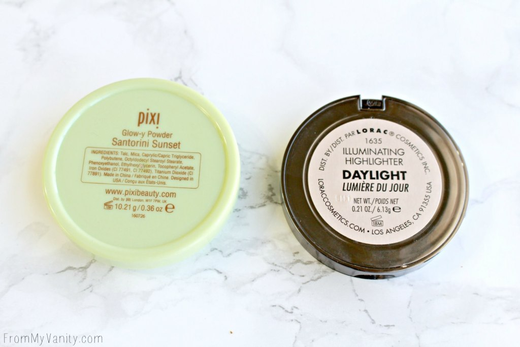 Dupe or Dud   LORAC Light Source Highlighter vs Pixi Beauty Glow-Y Powder   Packaging