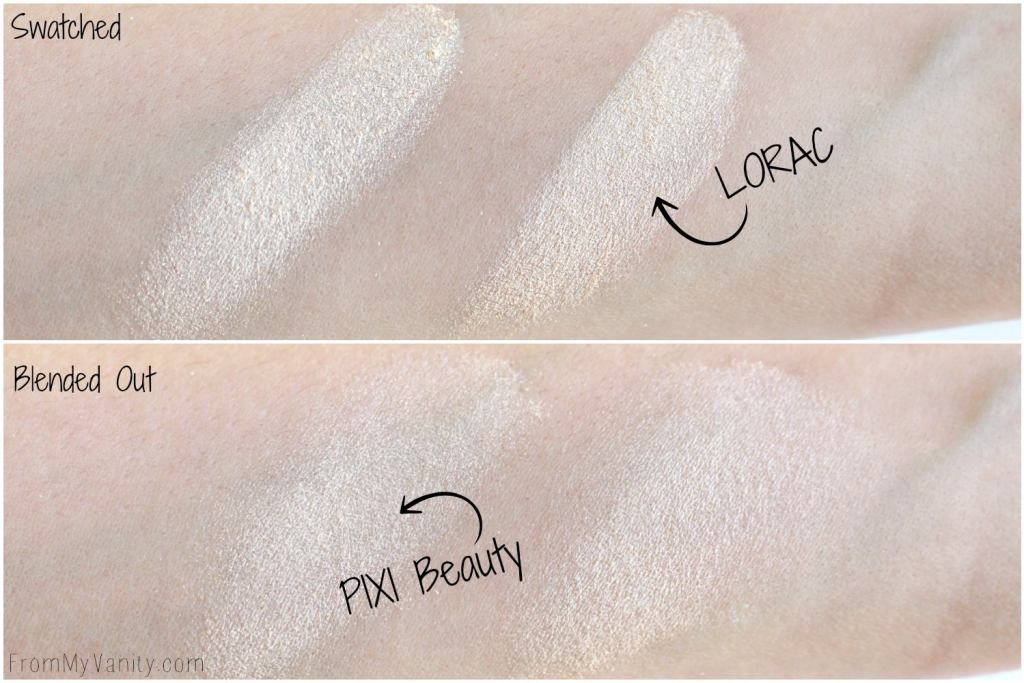 Dupe or Dud | LORAC Light Source Highlighter vs Pixi Beauty Glow-Y Powder | Comparison Swatches