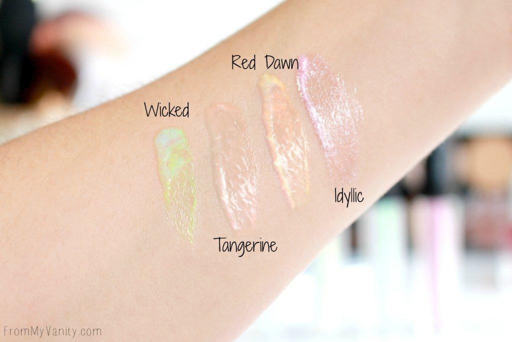 Jesse's Girl Cosmetics | Hits & Misses | Glow Stix Lip Gloss Swatches