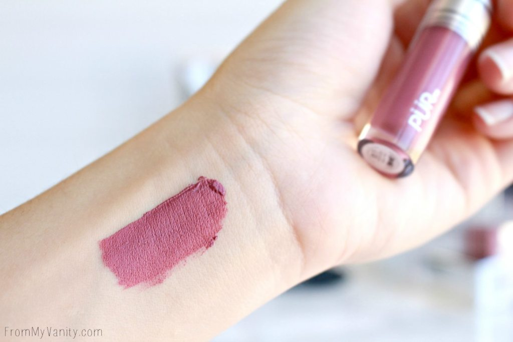 NEW from PUR Cosmetics | Hits and Misses? | Velvet Matte liquid lipstick swatch in Ever After