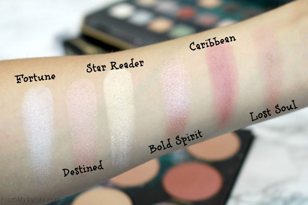 LORAC + Pirates of the Caribbean Collection | Review, Swatches, and Demo | LIMITED EDITION | Cheek Palette Swatches