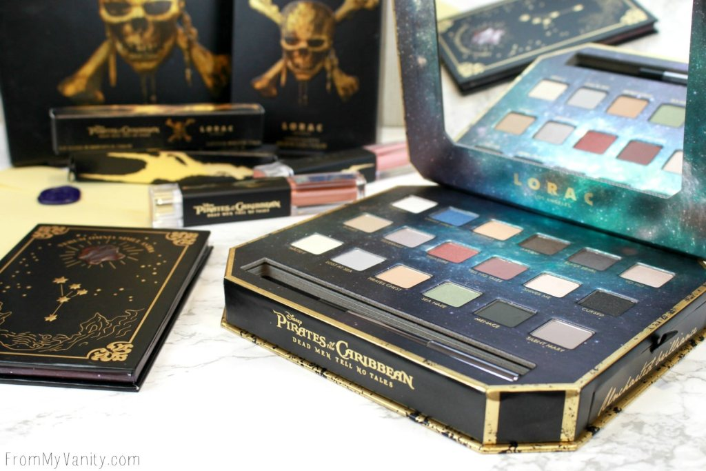 LORAC + Pirates of the Caribbean Collection   Review, Swatches, and Demo   Eyeshadow Palette   Limited Edition