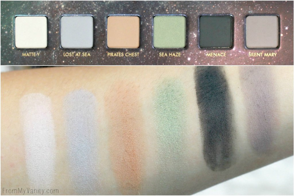 LORAC + Pirates of the Caribbean Collection   Review, Swatches, and Demo   LIMITED EDITION   Swatches of Third Row