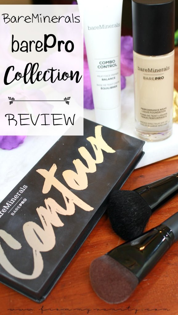 Bare Minerals barePro Collection | Combo Control Primer, Performance Wear foundation, barePro Contour, and brushes | In Depth Review