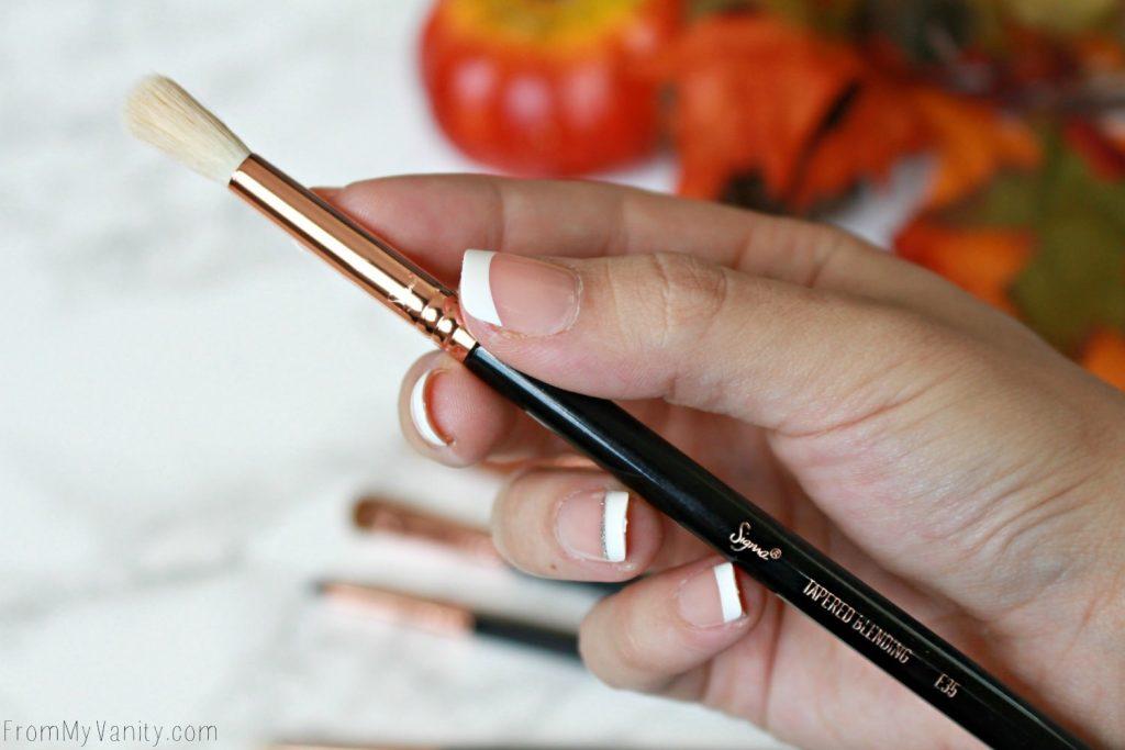 Sigma Beauty Ultimate Copper Eye Brush Set | Review | E35 Tapered Blending Brush