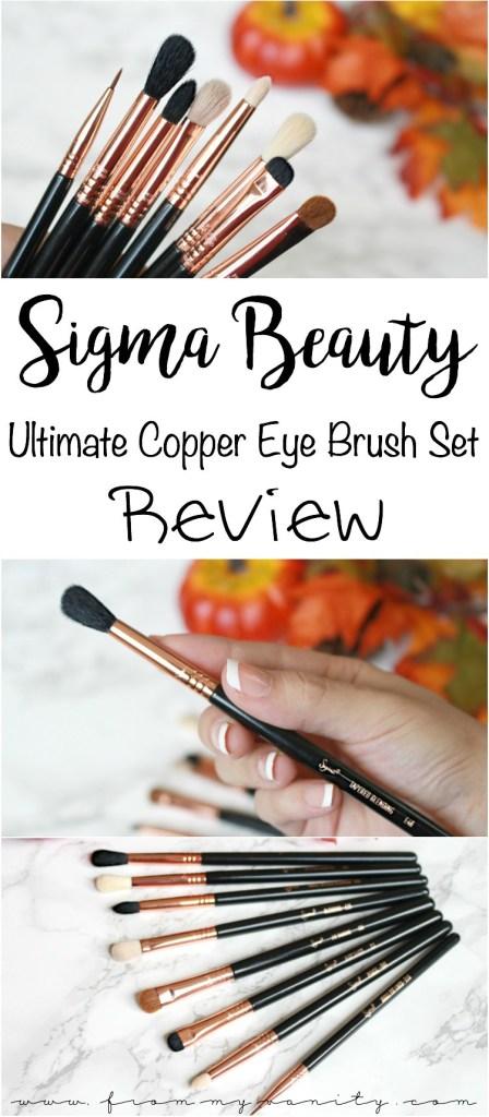Sigma Beauty Ultimate Copper Eye Brush Set | Individual Brush Reviews & Tutorial Demo