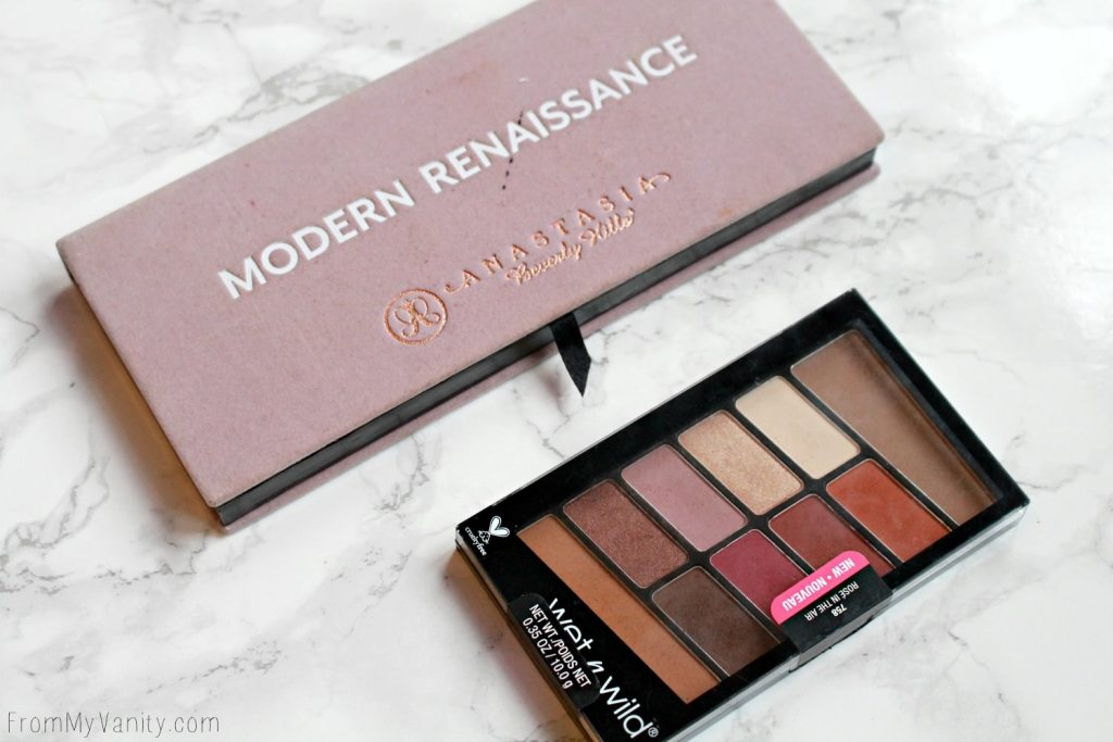 Dupe or Dud | ABH Modern Renaissance vs Wet n Wild Rosé in the Air Palette | Drugstore alternative to highend