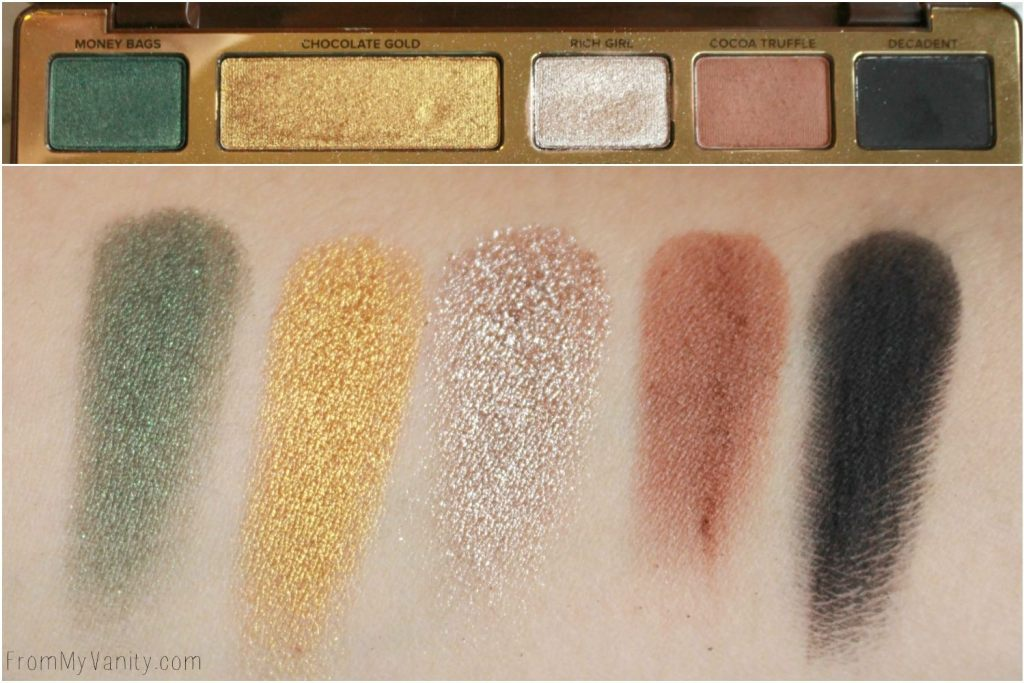 Too Faced Chocolate Gold Palette | Review & LIVE Eye Swatches | Row 1 Swatches