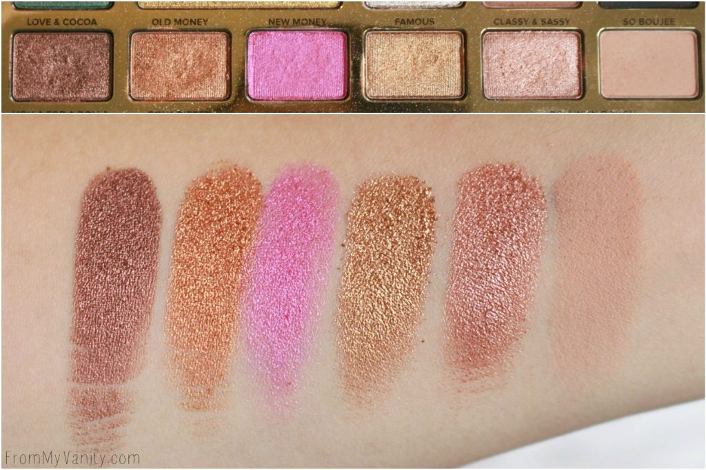 Too Faced Chocolate Gold Palette | Review & LIVE Eye Swatches | Row 2 Swatches