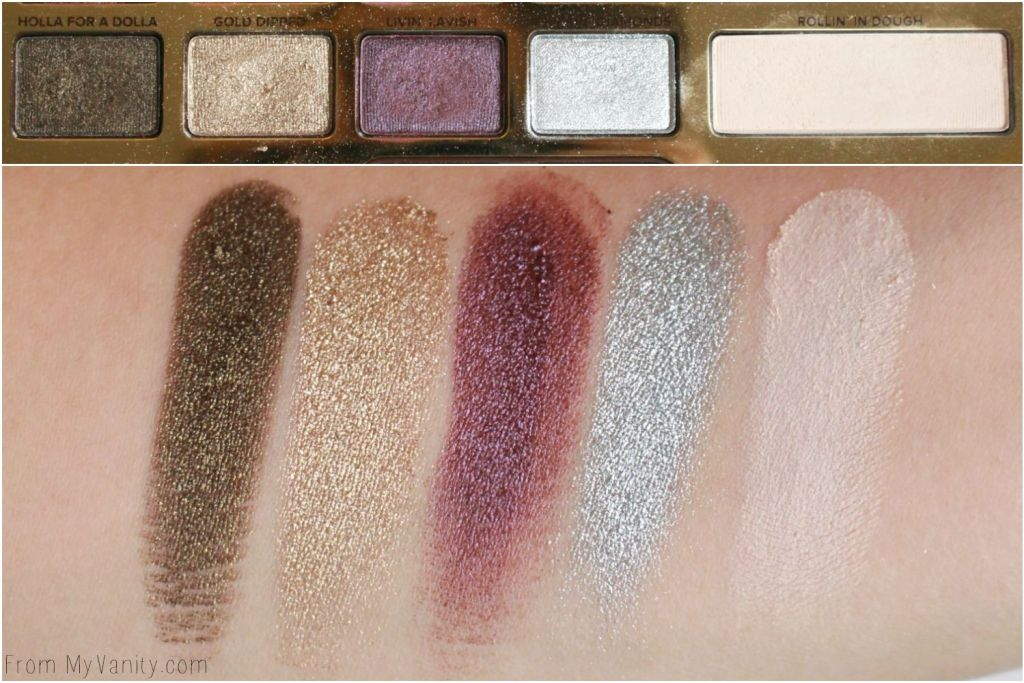 Too Faced Chocolate Gold Palette | Review & LIVE Eye Swatches | Row 3 Swatches