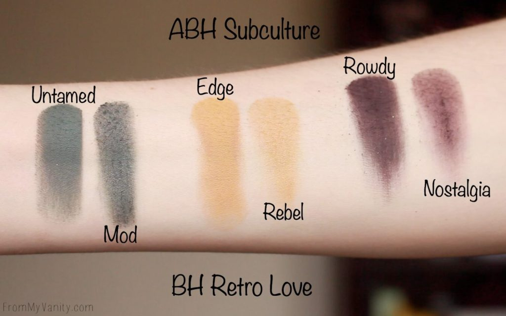 Dupe or Dud | ABH Subculture Palette vs Bad Habit Retro Love Palette | Eye Look Comparison! | Row 4 Swatches
