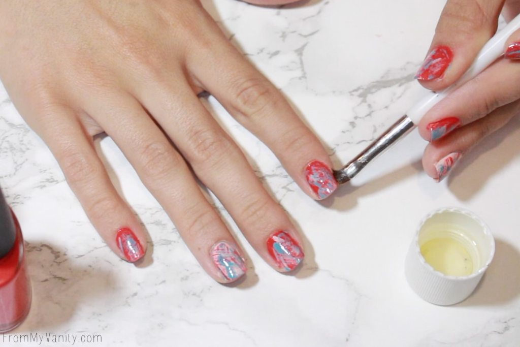 Easy Summer Nail Art with CND VINYLUX | Tutorial | Step 6