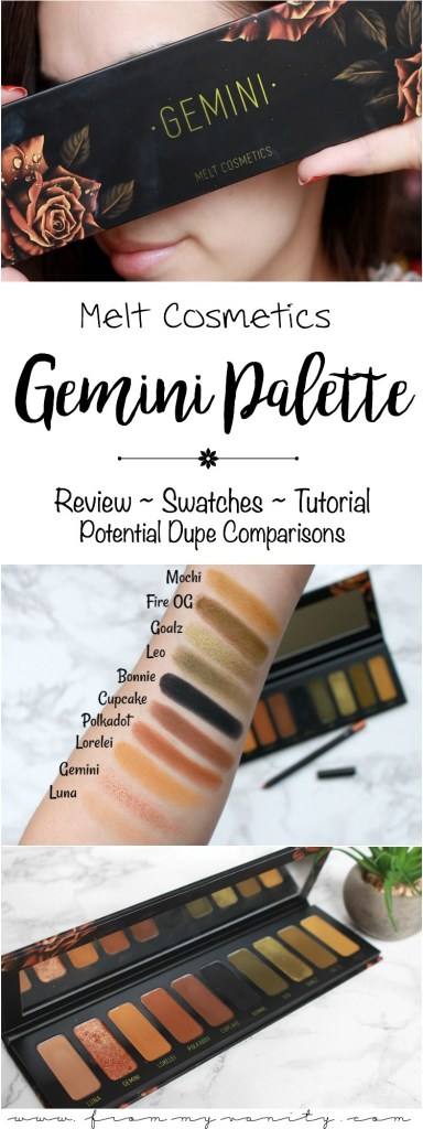 Melt Cosmetics Gemini Palette | Review, Swatches, Tutorial, & Potential Dupes Comparisons | Limited Edition Gemini Palette | Grungy Palette