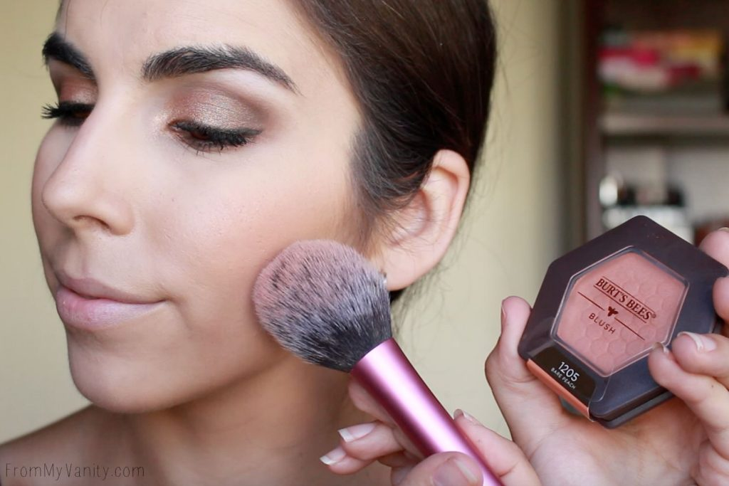 Back to College Makeup Routine with Burt's Bees | Blush