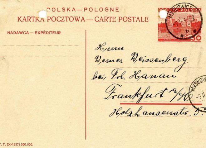 Mysłowice postmark