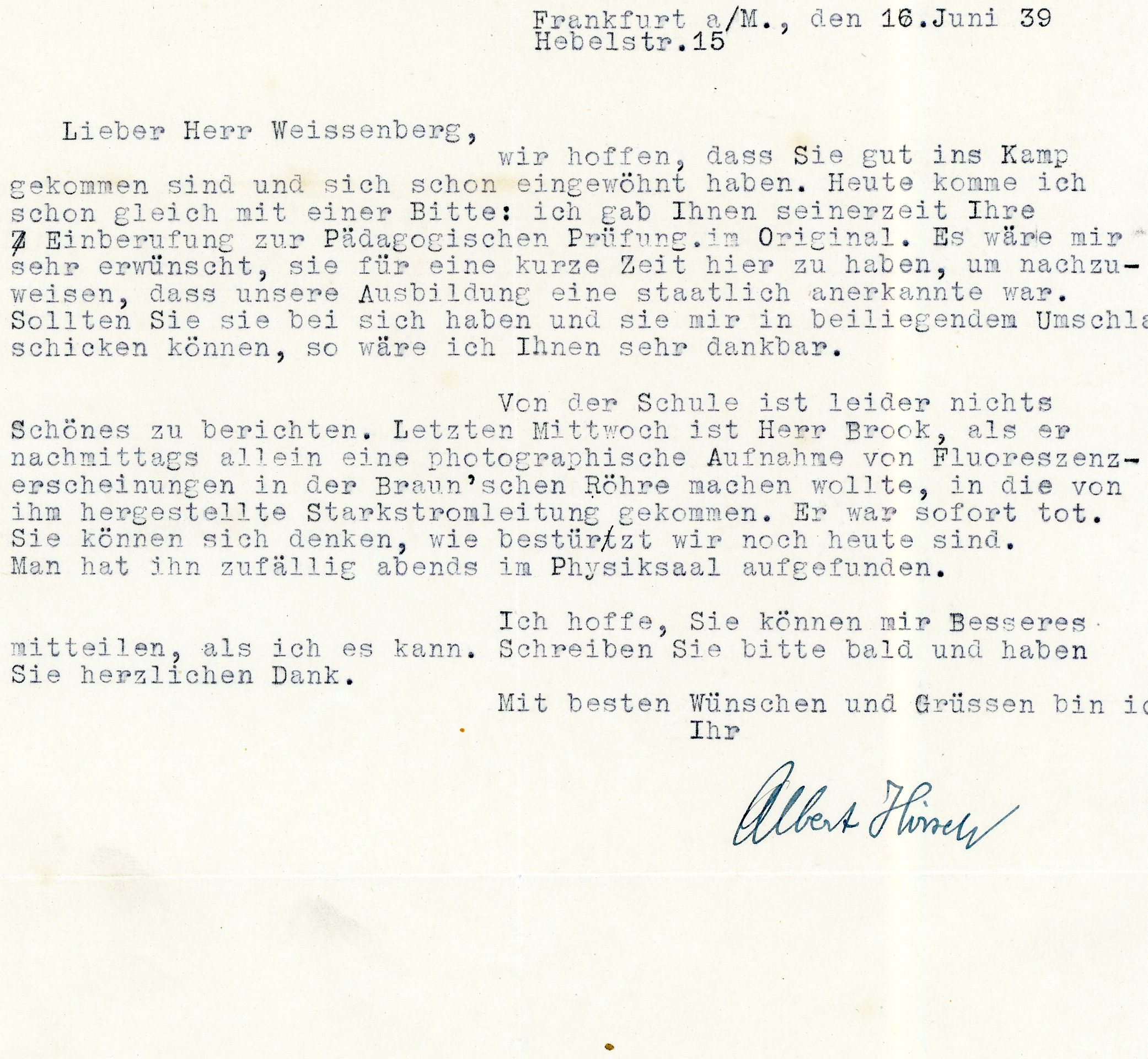 Pre-war and wartime correspondence – From numbers to names