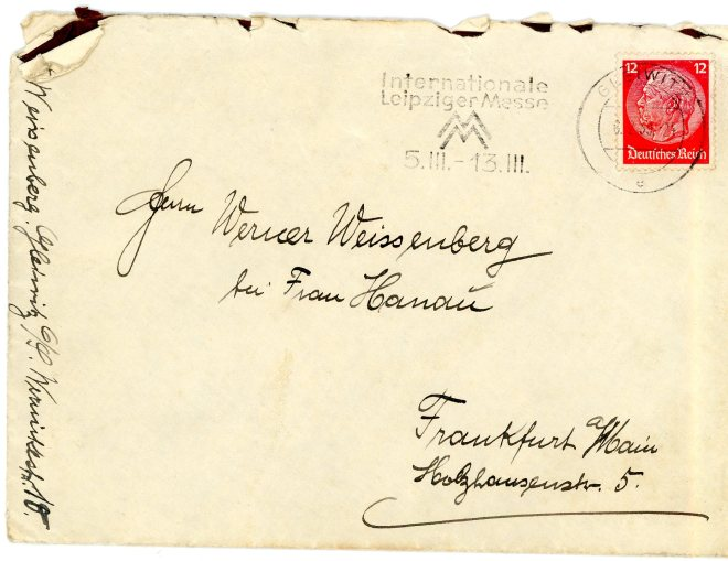 6th February 1939, Envelope