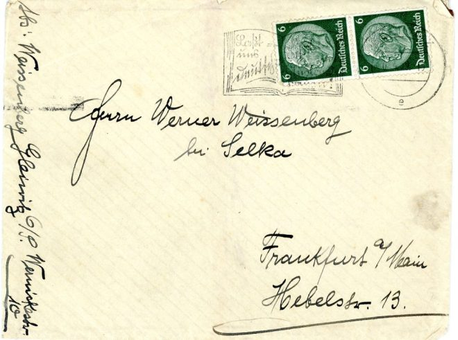 6th April 1939, Envelope