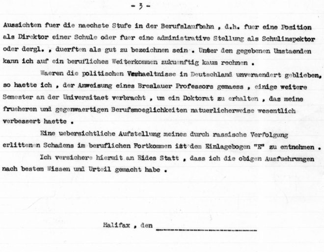 Eidesstattliche, page three