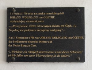 Goethe - one of my dad's favourite's .... a plaque at the castle at Tost